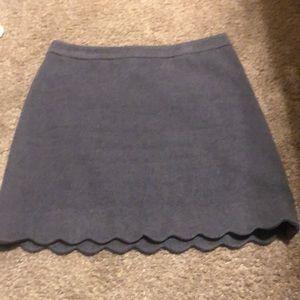 LOFT purple scallop pencil skirt.
